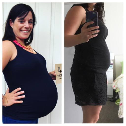 Pregnant Belly before and after comparison